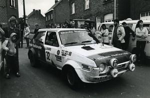 Belgium Ypres Rallye Race Car Fiat Ritmo 75 Plas Nijs Photo Vanderhaegen 1981