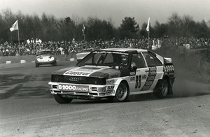 Belgium Rallycross Rally Race Audi Quattro Franz Wurz Photo Vanderhaegen 1982