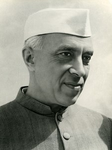 India Portrait Shri Jawaharlal Nehru Old Photo 1950