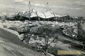 Germany Munich Olympic Games Stadium Olympiastadion Architecture Old Photo 1972