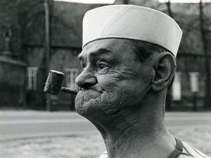 Belgium Popeye Actor Pipe Flemish Film Productions Old Photo 1980