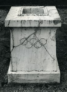 Greece Olympia Altar Pierre de Coubertin Grove Moscow Games Old Photo 1980