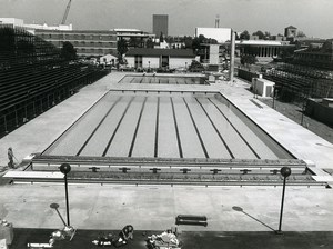 USA Los Angeles One year before the Olympic Games Swimming Pool Old Photo 1983