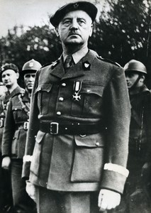 United Kingdom Military General Wladyslaw Sikorski WWII Old Photo 1940