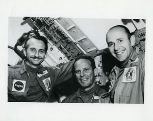 USA NASA Skylab 3 Space Station Crew Astronaut Garriott Lousma Bean Photo 1973