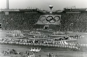 Russia Moscow Closing Ceremony Olympic Games Old Photo 1980