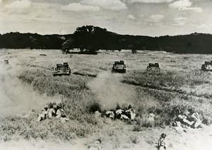 USA Texas San Antonio US Army Maneuvers Baby Cannons M2A2 Light Tanks Photo 1937