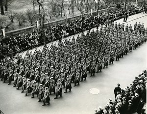 USA New York Army Day Parade 16th Infantry on Fifth Avenue Old Photo 1939