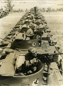 USA New York Large M-1 Combat Cars Maneuvers US Army at Saranac Old Photo 1939