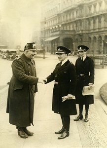 Germany Berlin Miss Mary Allen Chief of London Police Old photo 1934
