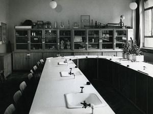 Poland Silesia Bytom Szkola Podstawowa Science Classroom Old Photo 1970