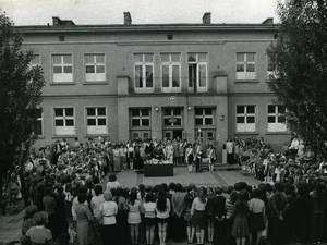 Poland Silesia Bytom Szkola Podstawowa School Assembly Old Photo 1970