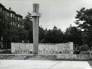 Poland Silesia Bytom Pomnik Wolnosci War Memorial Old Photo 1970