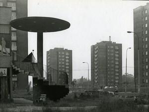 Poland Silesia Bytom Osiedle Chruszczow Architecture Old Photo 1970