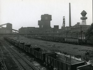 Poland Silesia Bytom Kopalnia Szombierki Coal Mine Old Photo 1970