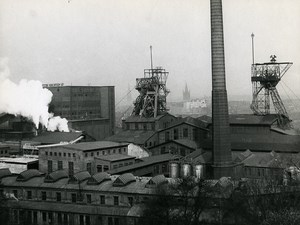 Poland Silesia Bytom Kopalnia Rozbark Coal Mine Old Photo 1970