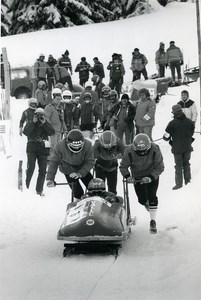 France La Plagne European Championship Bobsleigh Photo Vanderhaegen 1986