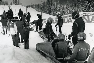 France La Plagne European Championship Bobsleigh Italy Photo Vanderhaegen 1986