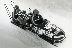 France La Plagne European Championship Bobsleigh Photo Vanderhaegen 1986