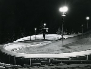 Austria Innsbruck Olympic Winter Games Bobsleigh Track Old Photo 1976