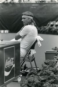 USA New York Flushing Meadow Bjorn Borg Tennis Old photo 1981