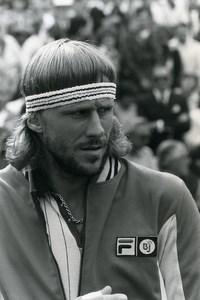 United Kingdom Wimbledon Tennis Bjorn Borg Old Photo 1981