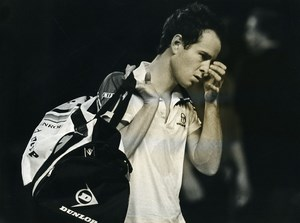 Belgium Antwerp Tennis Tournament John McEnroe Old Photo Van de Velde 1985