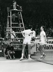 Belgium Antwerp Tennis Tournament McEnroe Lendl Old Photo Van de Velde 1985