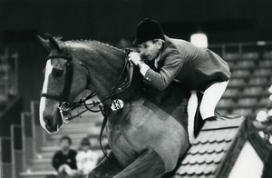 Belgium Brussels Horse Jumping Malcolm Pyrah Old Photo Vanderhaegen 1985