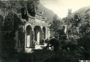 Vietnam Indochina Tonkin Lai Chau Deo Van Tri Tomb Monument Old Photo 1925