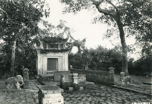 Vietnam Indochina Tonkin Hadong Village of Tien Lu small monument Photo 1925