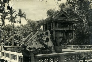 Vietnam Indochina Tonkin Hanoi Pagoda called Mot Cot Old Photo 1925