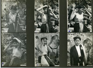Vietnam Indochina Tonkin Hanoi Setting the Female Turban 6 Old Photos 1925