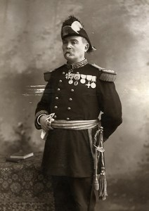 France Clermont Ferrand Military Officer Medals Cabinet Card Photo Gendraud 1895