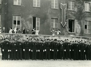 Germany Friburg Military Ceremonial Parade French Air Force Base Old Photo 1949