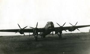 Aviation Aircraft Avro 694 Lincoln Woodford Airfield? Old Photo 1944