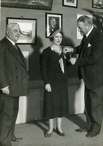 France Maryse Bastié Aviatrix awarded Legion of Honor Old Photo Meurisse 1931