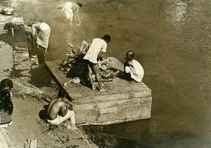India Scene from Everyday Life Cremation Corpse Old photo 1960