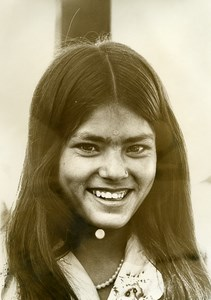 India Anonymous Young Girl Portrait Old photo 1960