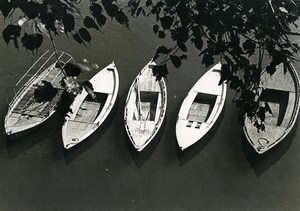 India Scene from Everyday Life Small Boats Old photo 1960
