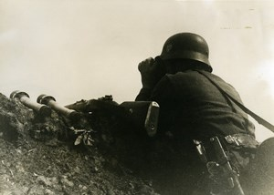 France German Military Atlantic Front Look Out Post Old Photo 1943