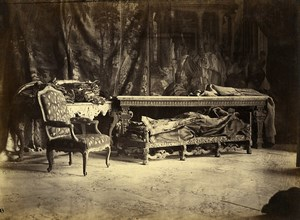 Bercy Castle Furniture in Sculptor Rouyer's Studio old Durandelle Photo 1860'