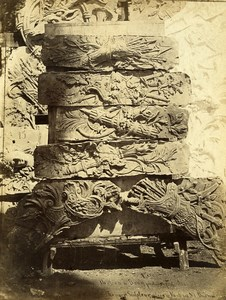 Bercy Castle Sculptures in Sculptor Rouyer's Studio old Durandelle Photo 1860'
