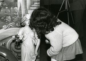 France Merry Go Round Fairground Ride Detail Girl & Woman Statue Old Photo 1960
