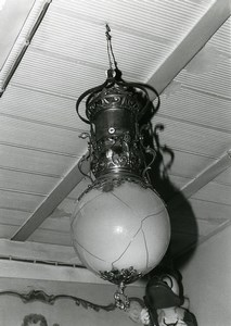 France Merry Go Round Fairground Detail Light Fixture Old Photo 1960