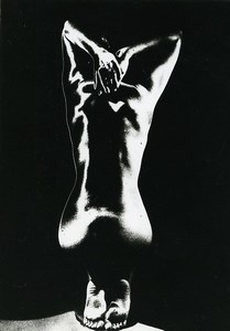 France Risque Nude Woman Back to Camera Solarization Old Deplechin Photo 1960