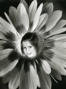 France Photographic Experiment Study Flower Girl Portrait Photo Deplechin 1960