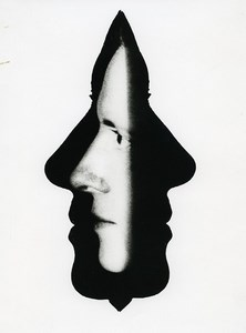 France Photographic Experiment Study Head Silhouette Old Deplechin Photo 1960