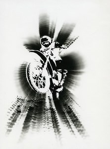 France Photographic Experiment Study Cross Motorcycle Old Deplechin Photo 1960