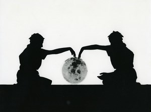 France Photographic Experiment Study Moon Silhouette Old Deplechin Photo 1960